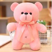 Мягкая плюшевая игрушка Мишка 20 см (Розовая)