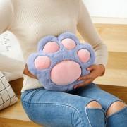 Подушка игрушка Кошачья лапа 35 см (Серо-розовая)
