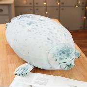 Мягкая игрушка-подушка Тюлень пятнистый 40 см (Серый)