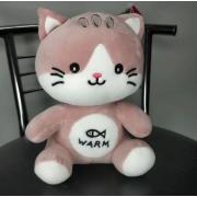Мягкая игрушка Котик Warm 20 см (Розовая)
