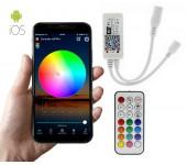 Беспроводной RGB контроллер светодиодной ленты WI-FI 9-28V с управлением через приложение со смартфона (Белый)