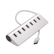 7-портовый концентратор 7 Port USB 3.0 HUB Support 2 TB (Серебряный)