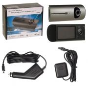 Авто-видеорегистратор X3000 с двумя камерами (Серебристый)