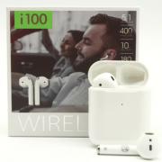 Беспроводные наушники WIRELESS i100 plus (Белые)