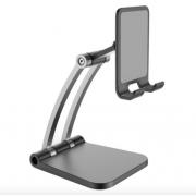 Подставка для телефона и планшета Folding mobile Phone Desktop snand (Черно-серебристая)