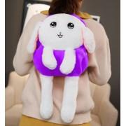 Детский плюшевый рюкзак в виде зайчика (Фиолетовый)