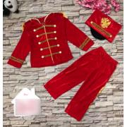 Детский маскарадный костюм Гусара размер L (Красный)