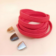 Эластичные шнурки без завязок с металлическим наконечником (Красные)