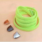 Эластичные шнурки без завязок с металлическим наконечником (Салатовый)