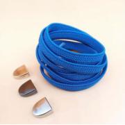 Эластичные шнурки без завязок с металлическим наконечником (Синий)