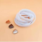 Эластичные шнурки без завязок с металлическим наконечником (Белые)