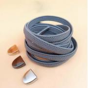 Эластичные шнурки без завязок с металлическим наконечником (Серые)