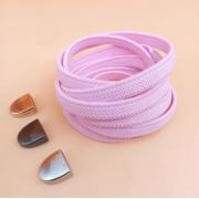 Эластичные шнурки без завязок с металлическим наконечником (Розовые)