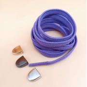 Эластичные шнурки без завязок с металлическим наконечником (Фиолетовые)