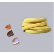Эластичные шнурки без завязок с металлическим наконечником (Желтые)
