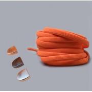 Эластичные шнурки без завязок с металлическим наконечником (Оранжевые)