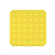 Сенсорная квадратная игрушка для детей Pop It (Желтая)