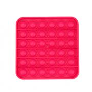 Сенсорная квадратная игрушка для детей Pop It (Красная)