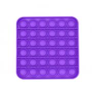 Сенсорная квадратная игрушка для детей Pop It (Фиолетовая)