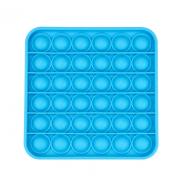 Сенсорная квадратная игрушка для детей Pop It (Синяя)