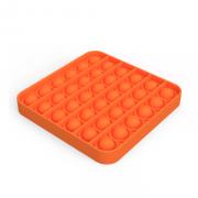 Сенсорная квадратная игрушка для детей Pop It (Оранжевая)