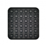Сенсорная квадратная игрушка для детей Pop It (Черная)
