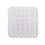 Сенсорная квадратная игрушка для детей Pop It (Белая)