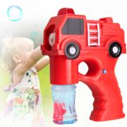 Набор для мыльных пузырей с пистолетом в виде пожарной машины со световыми и звуковыми эффектами (Красный)