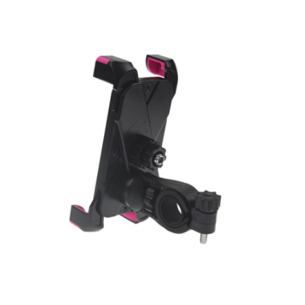 Универсальный держатель на руль для смартфонов и телефонов с размерами от 55 мм до 109 мм (Черный)