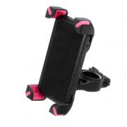 Универсальный держатель на руль для смартфонов и телефонов с размерами от 55 мм до 109 мм (Розовый)