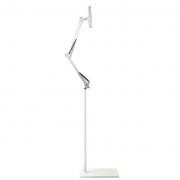 Напольный регулируемый по высоте держатель для мобильных телефонов и планшетов из алюминиевого сплава (Белый)