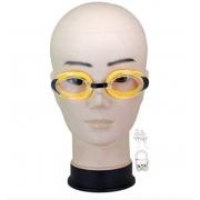 Очки для плавания для мальчиков и девочек Advanced Swim Goggles с затычками для ушей (Желтые)