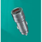 PD быстрое автомобильное зарядное устройство Tranyoo С9 (Серебряное)