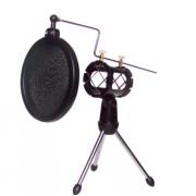 Поп-фильтр для микрофона F-9 (черный)