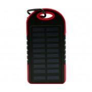 Powerbank со встроенной солнечной батареей Solar Power Bank, объем 5000 mAh (Красный)