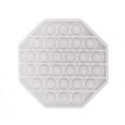 Пузырьковая сенсорная игрушка для детей Pop It (Белая)