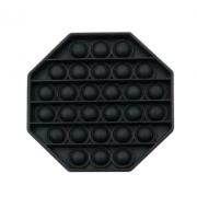 Пузырьковая сенсорная игрушка для детей Pop It (Черная)