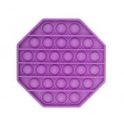 Пузырьковая сенсорная игрушка для детей Pop It (Фиолетовая)