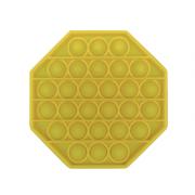 Пузырьковая сенсорная игрушка для детей Pop It (Желтая)