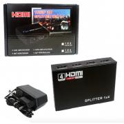 Разветлитель HDMI Splitter 1x4 port (Черный)