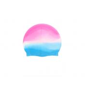 Силиконовая шапочка для плавания SPE 18х22см (Голубо-розовая)