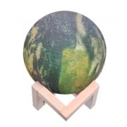 Светильник ночник 3D Moon Lamp 15см (Зеленый)