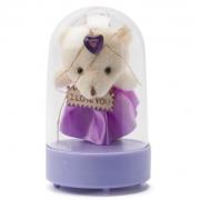 Светильник Плюшевый мишка Love в колбе (Фиолетовый)