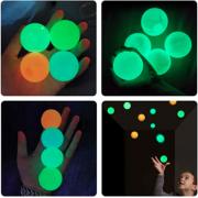 Игрушка антистресс светящиеся липкие шарики GLOBBLES 4 шт (Мультиколор)