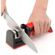 Универсальная точилка для ножей 3в1 (Черно-красная)