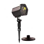Уличный новогодний лазерный проектор 3D (Черный)