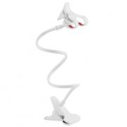 Универсальный гибкий держатель-прищепка для телефона (Белый)