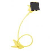 Универсальный гибкий держатель-прищепка для телефона (Желтый)