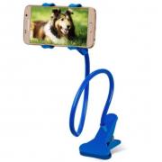 Универсальный гибкий держатель-прищепка для телефона (Синий)