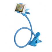 Универсальный гибкий держатель-прищепка для телефона (Голубой)